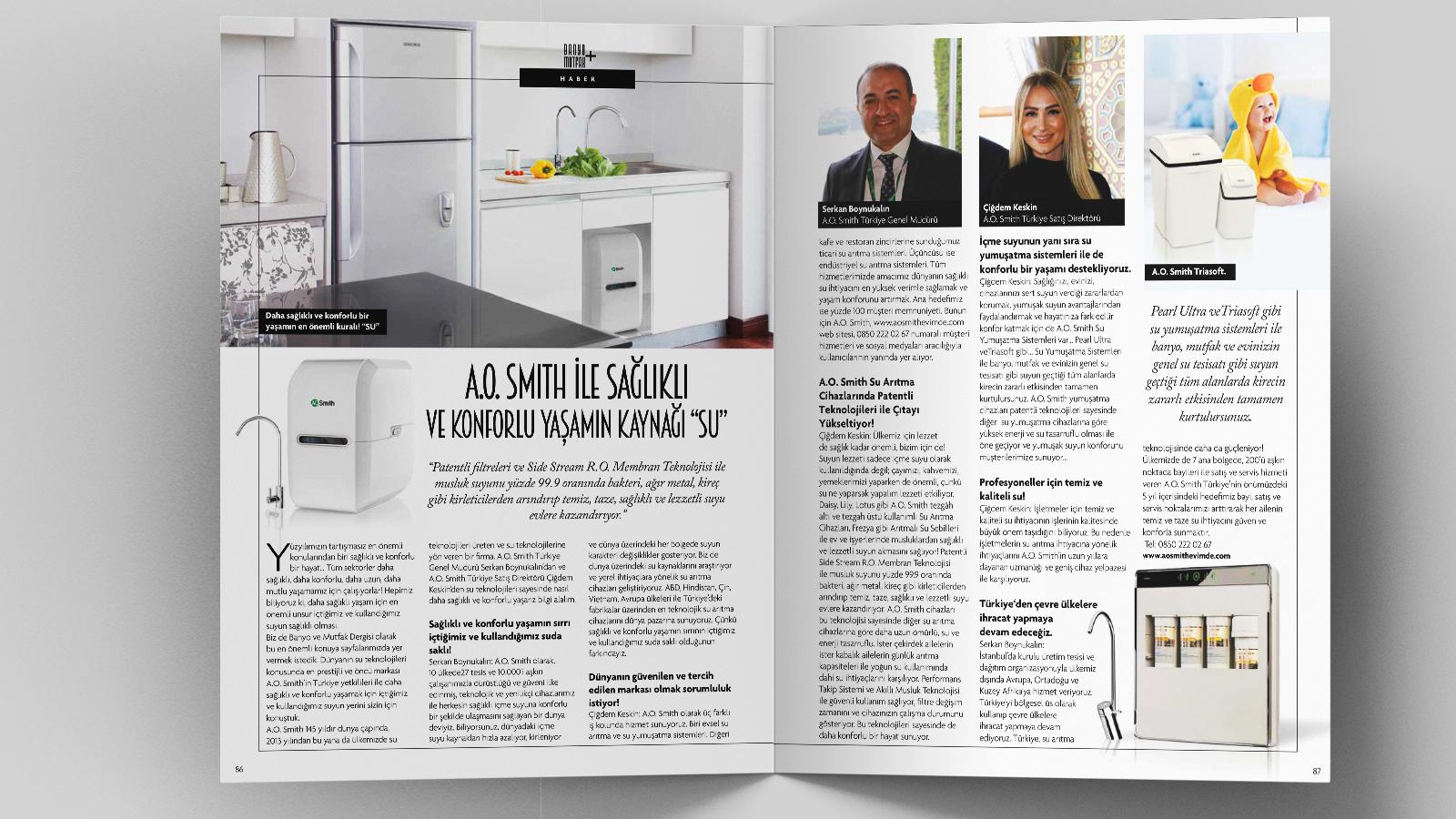 A. O. Smith Türkiye Banyo-Mutfak Dergisi Şubat Mart Sayısında!